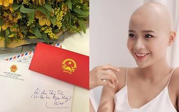 Thủ tướng gửi thư động viên nữ sinh mang trong mình căn bệnh ung thư