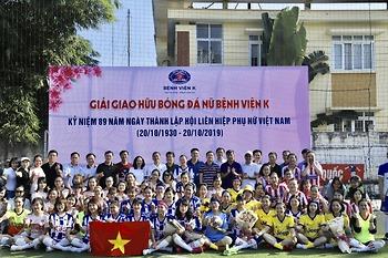Giải đấu giao hữu bóng đá cho cán bộ nhân viên nữ Bệnh viện K