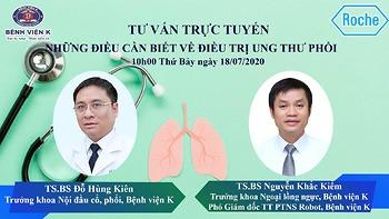 """Chương trình tư vấn trực tuyến """"Những điều cần biết về điều trị ung thư phổi"""""""